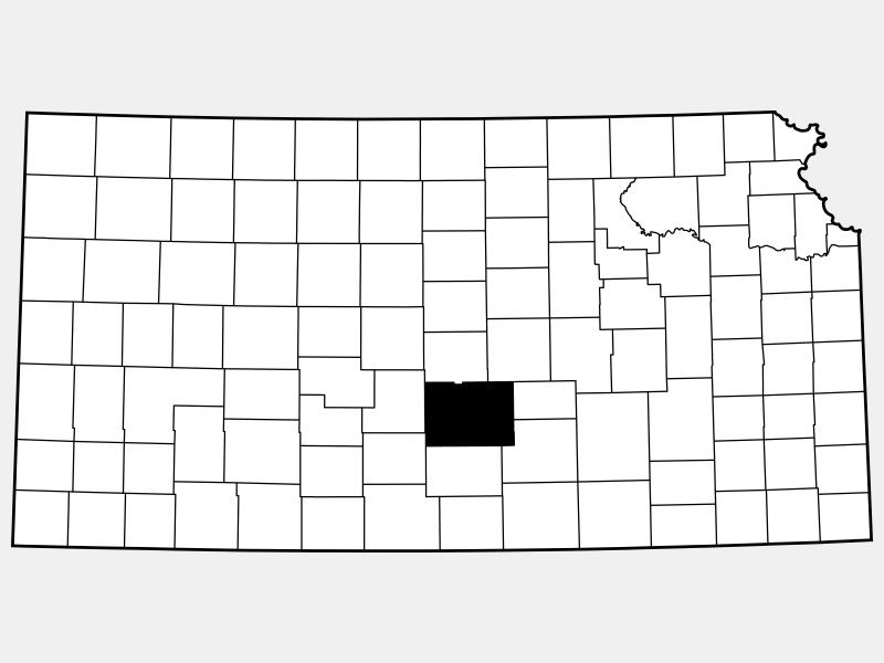 Reno County locator map