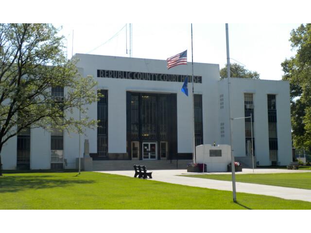 Republic Co Kansas Courthouse image