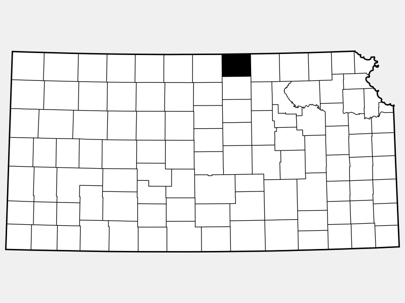 Republic County locator map