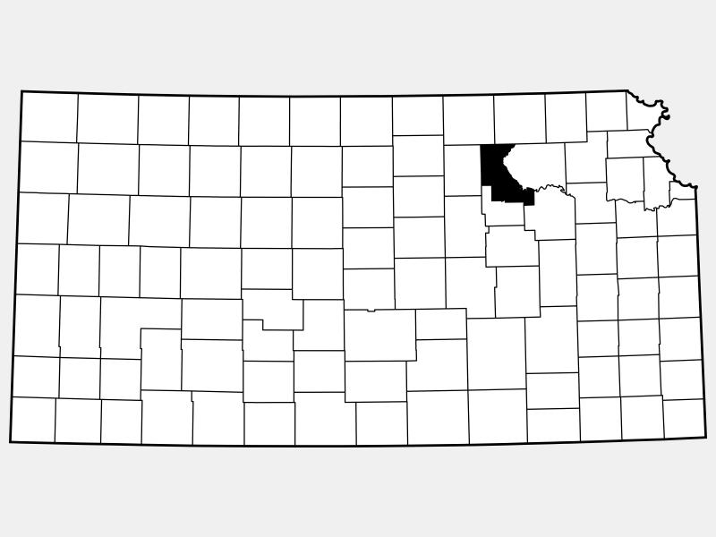 Riley County locator map