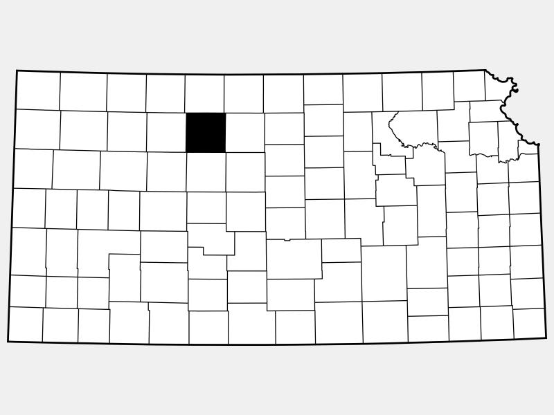 Rooks County locator map