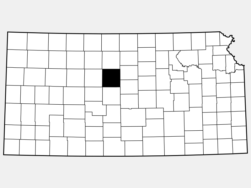 Russell County locator map