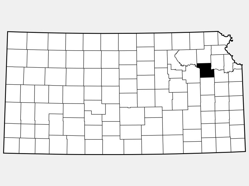 Shawnee County locator map