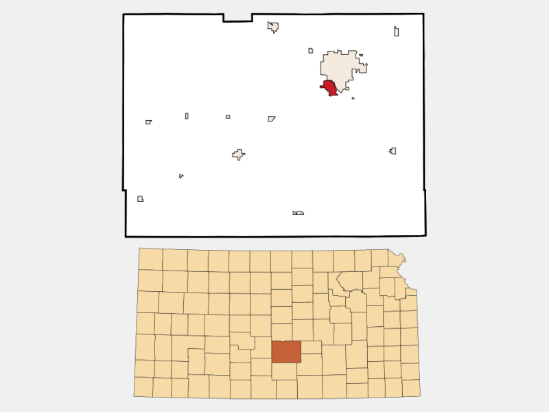 South Hutchinson locator map