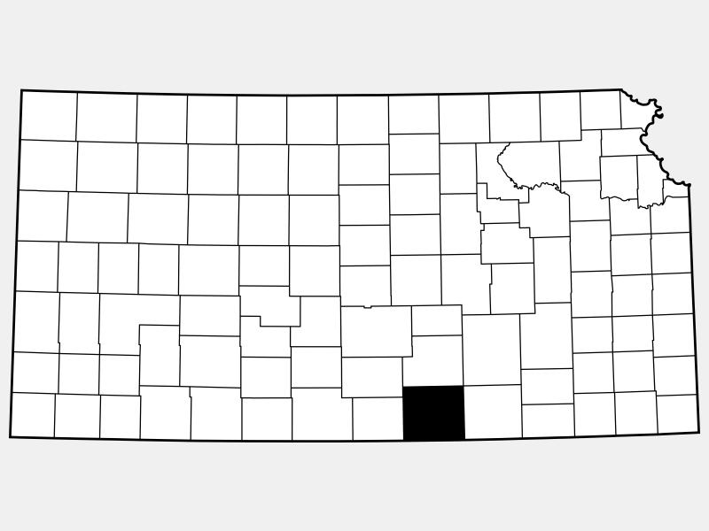 Sumner County locator map