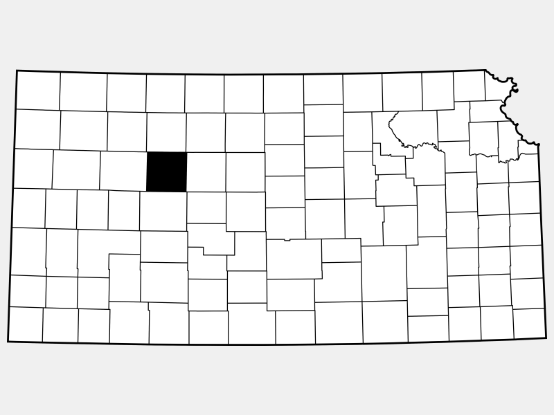 Trego County locator map