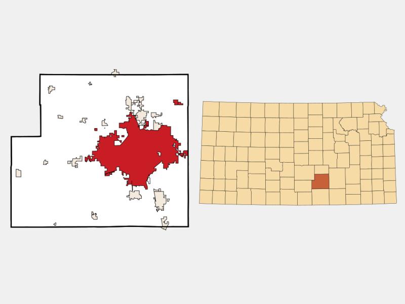 Wichita locator map
