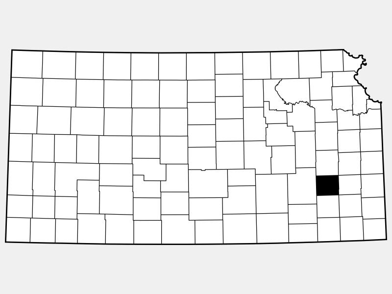 Woodson County locator map