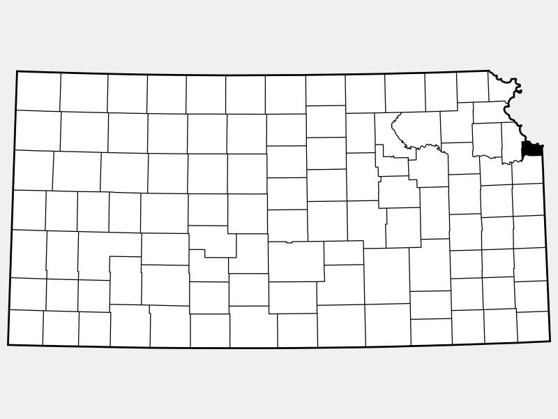 Wyandotte County locator map