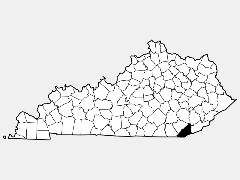 Bell County locator map
