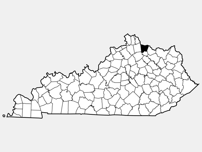 Bracken County locator map
