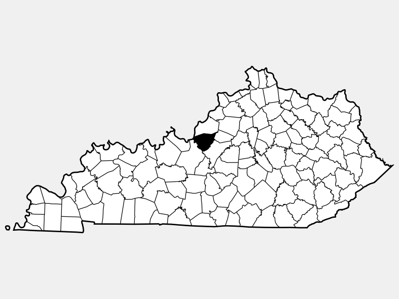Bullitt County locator map
