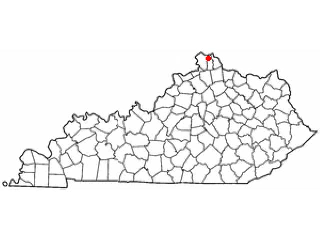 Crestview Hills locator map