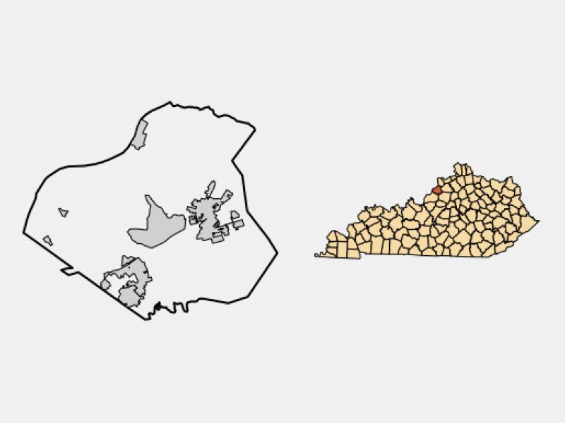 Crestwood locator map