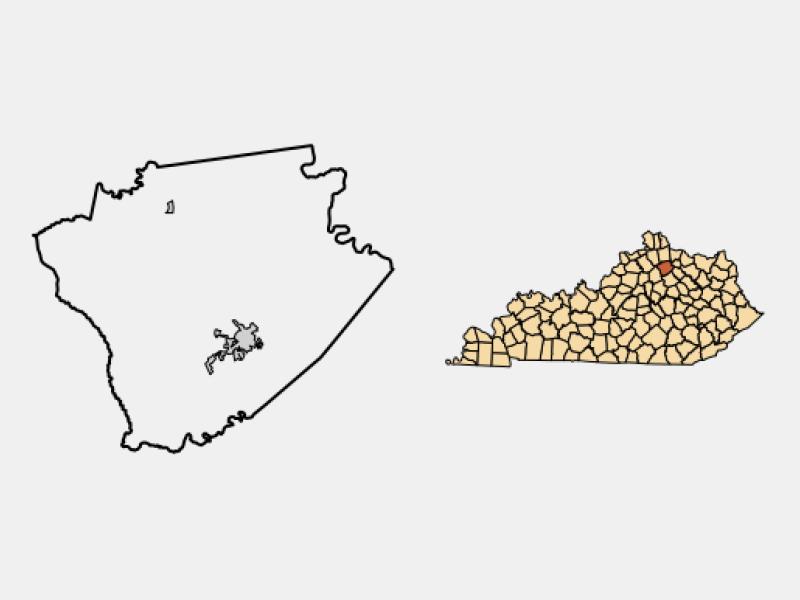 Cynthiana location map