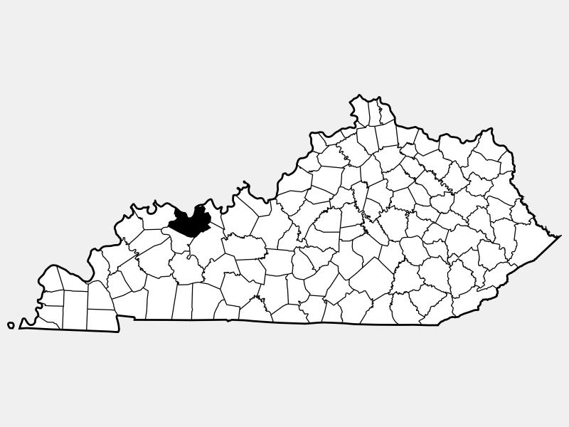 Daviess County locator map