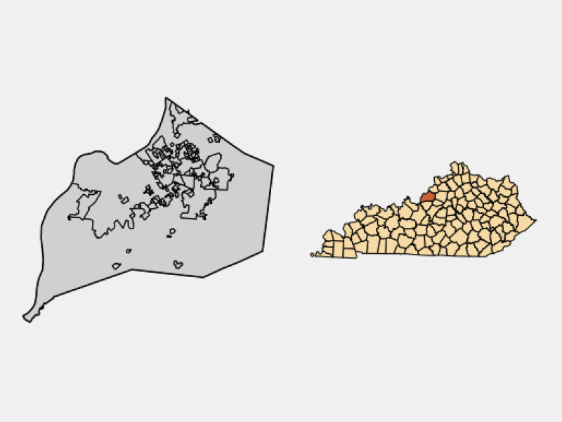 Douglass Hills locator map