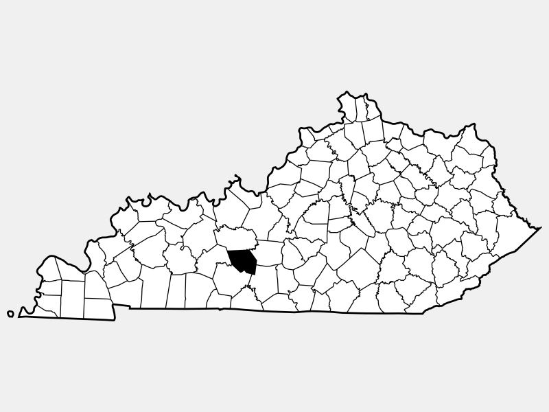 Edmonson County locator map