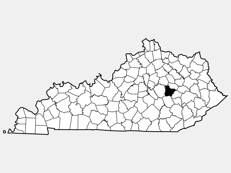 Estill County locator map