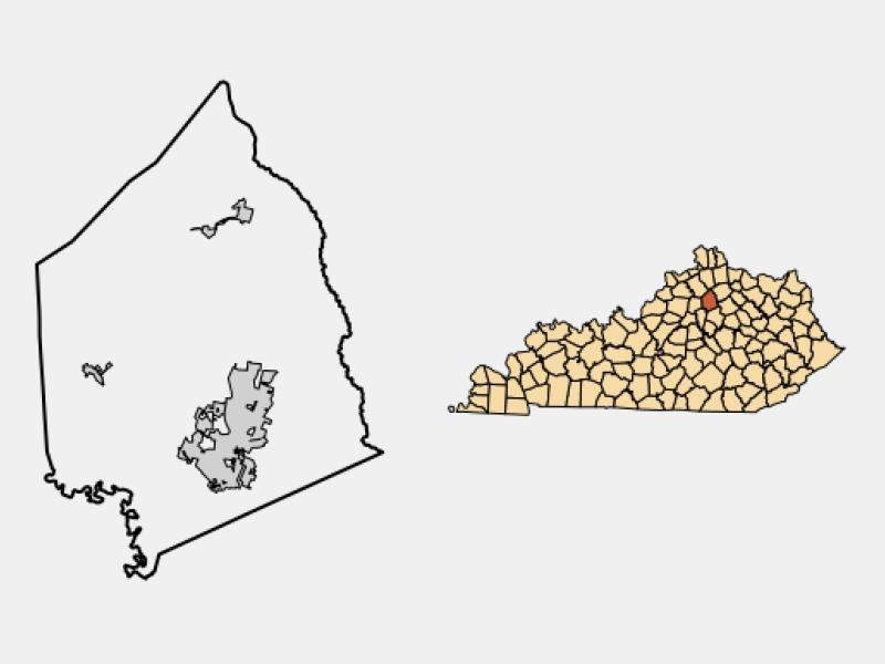 Georgetown, KY locator map