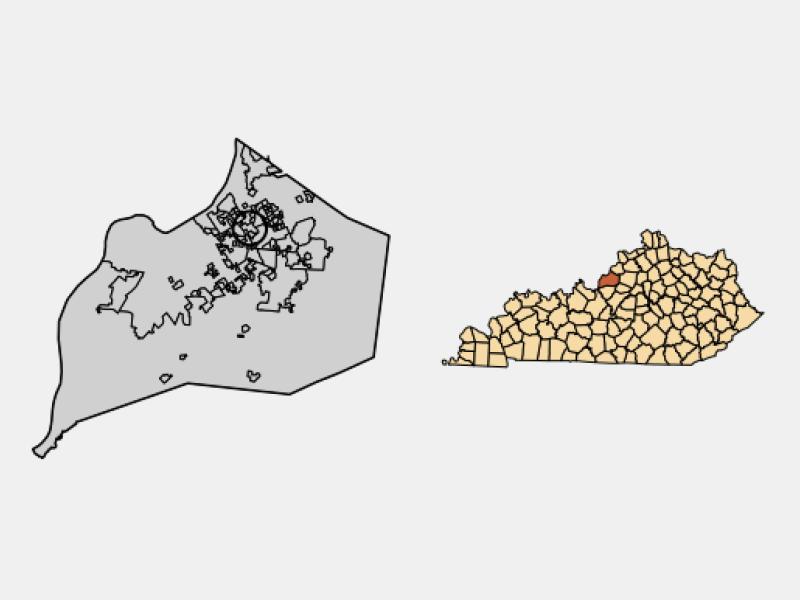 Graymoor-Devondale locator map