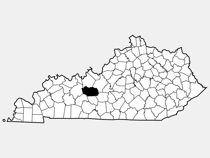 Grayson County locator map