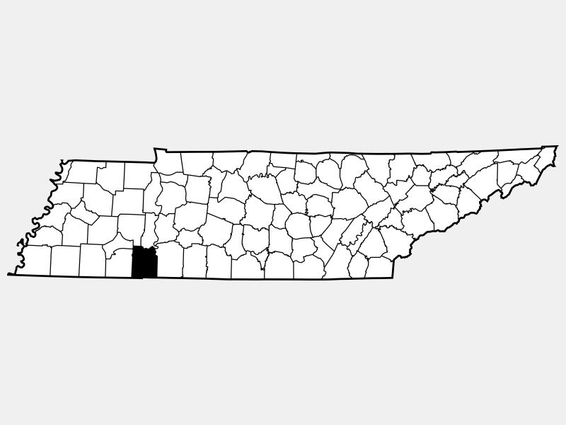 Hardin County locator map