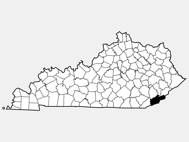 Harlan County location map