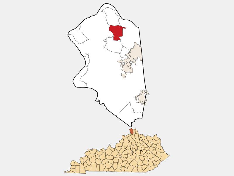 Hebron locator map