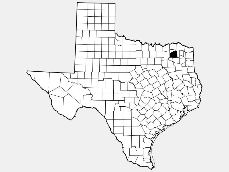 Hopkins County locator map