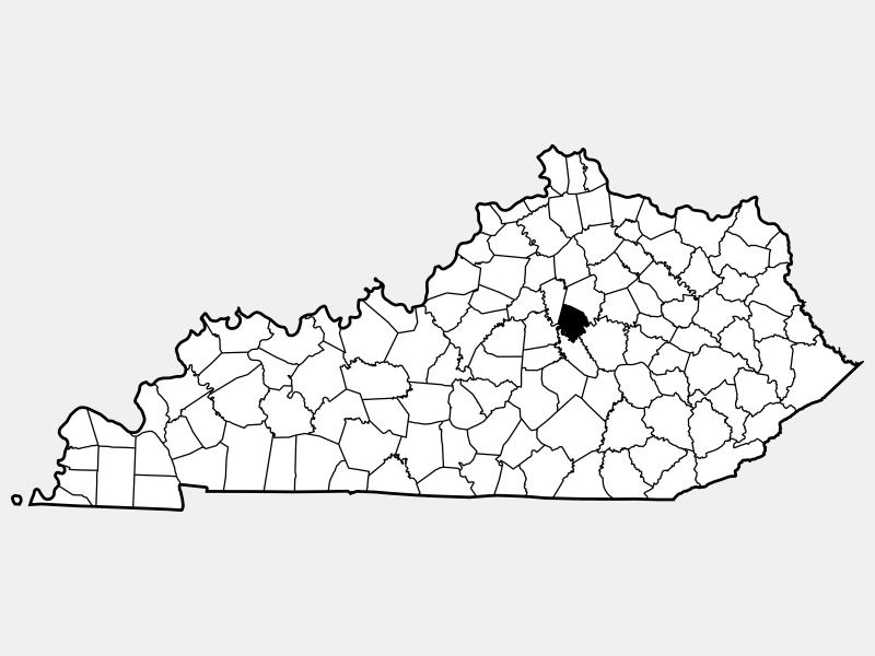 Jessamine County locator map