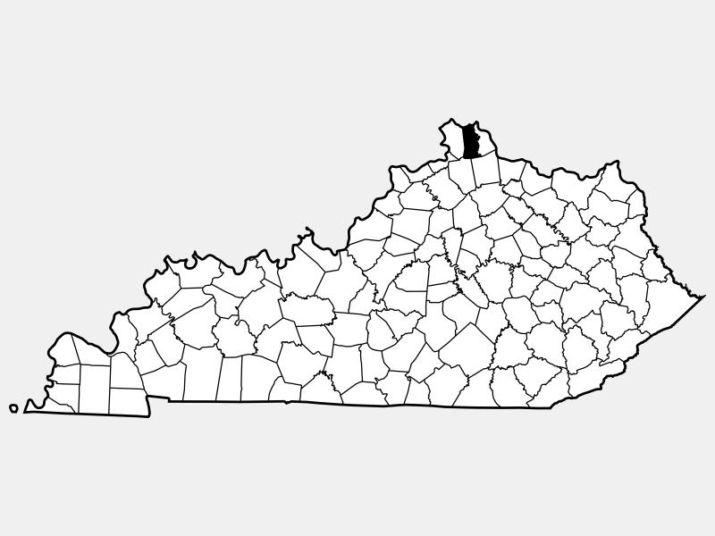 Kenton County locator map