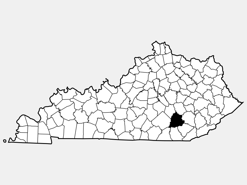 Laurel County, KY locator map