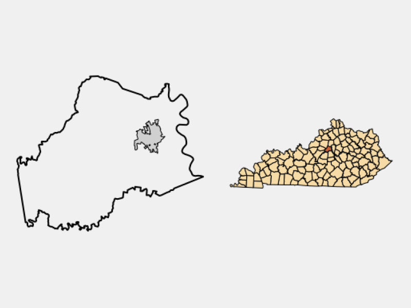 Lawrenceburg locator map