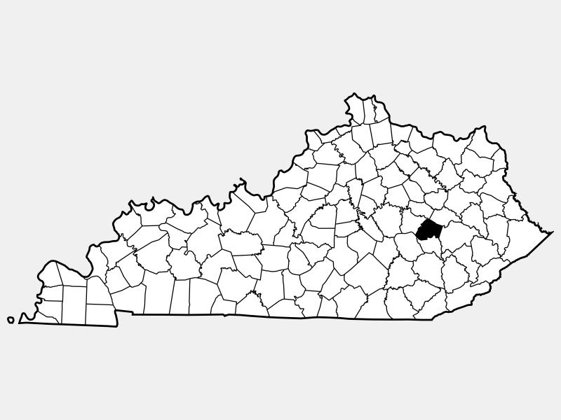 Lee County locator map
