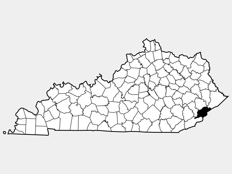 Letcher County locator map