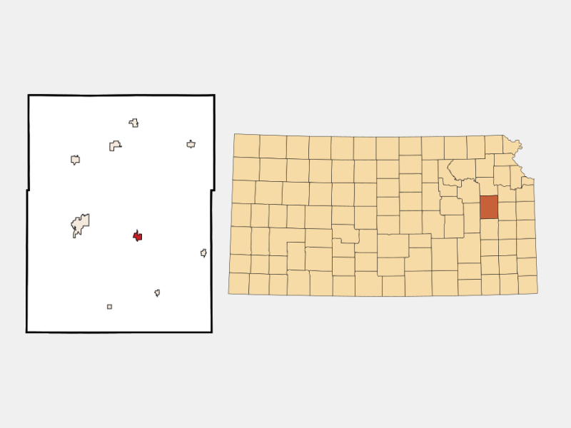 Lyndon locator map