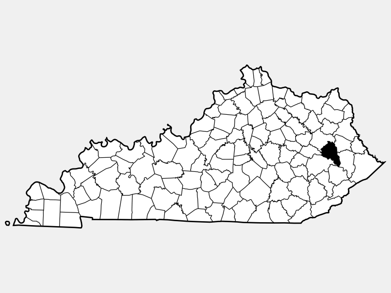 Magoffin County location map