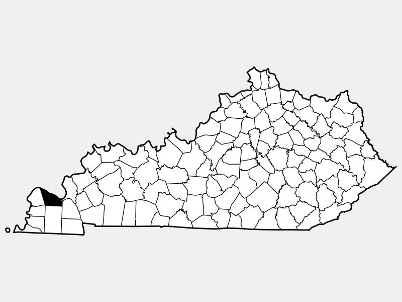 McCracken County, KY locator map