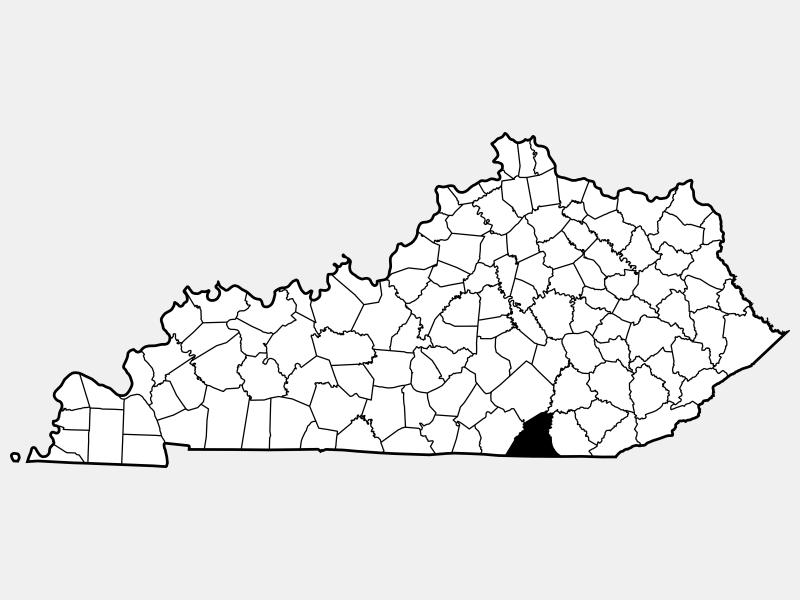 McCreary County locator map