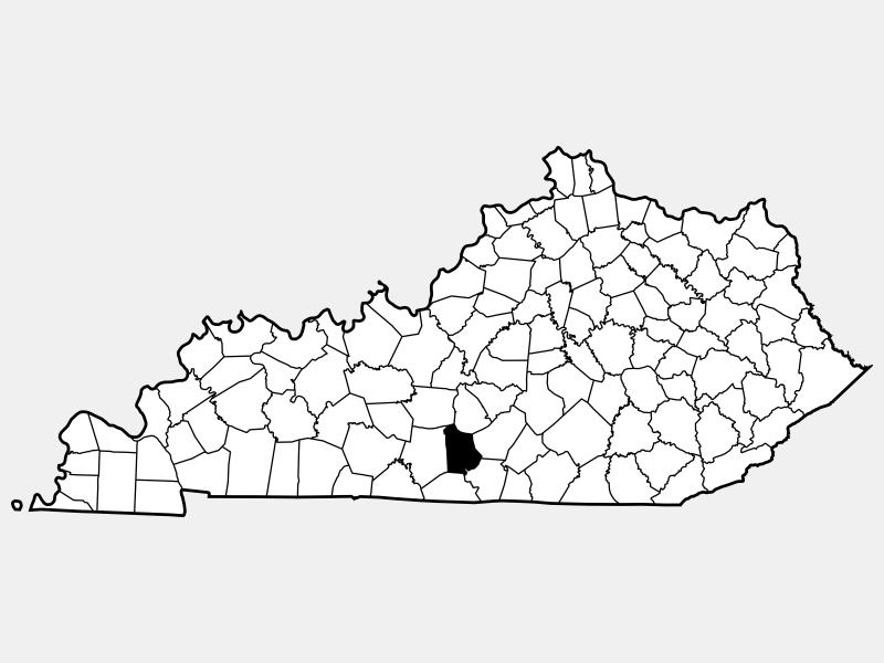 Metcalfe County locator map