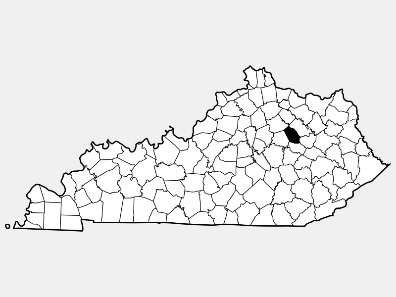 Mount Sterling locator map