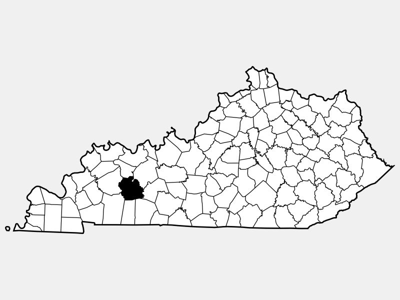 Muhlenberg County locator map
