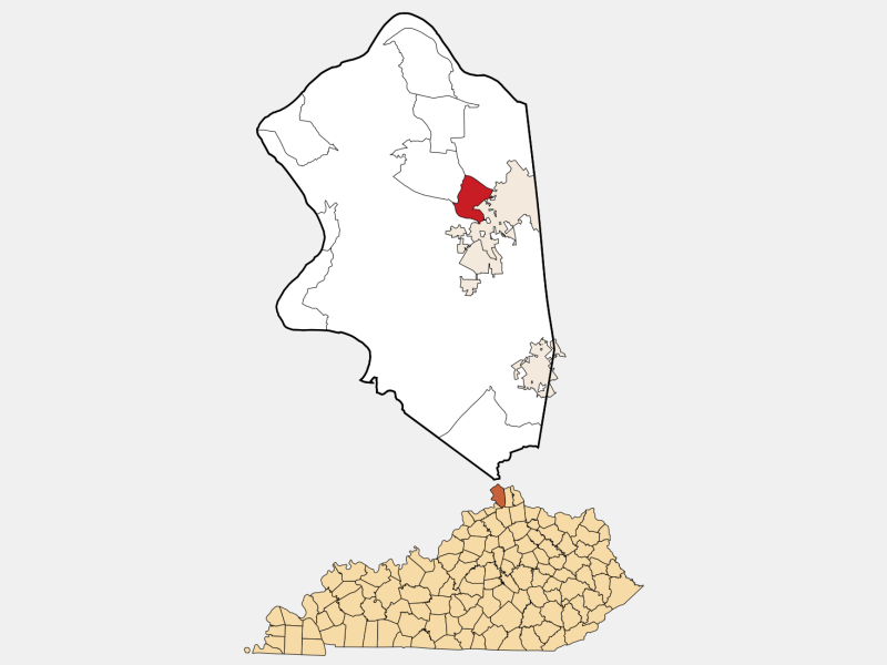 Oakbrook locator map