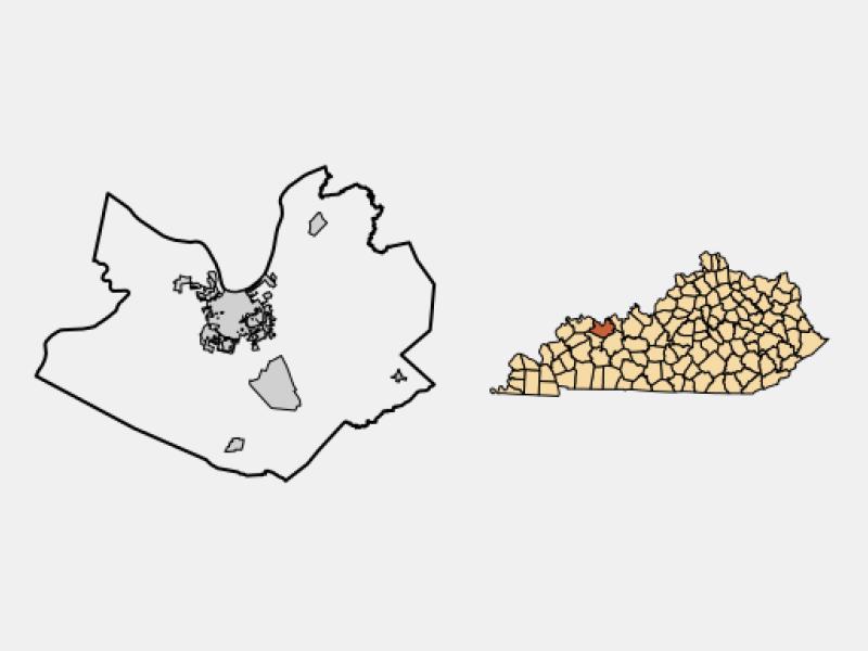 Owensboro locator map