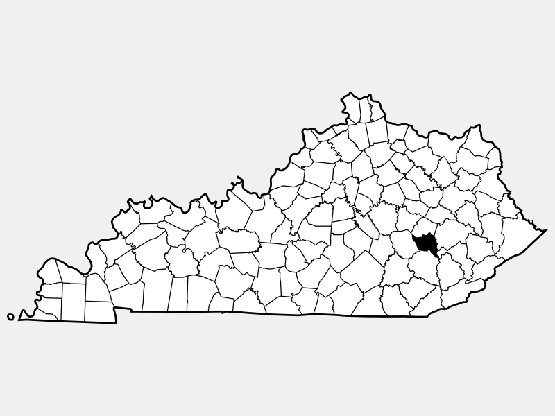 Owsley County locator map