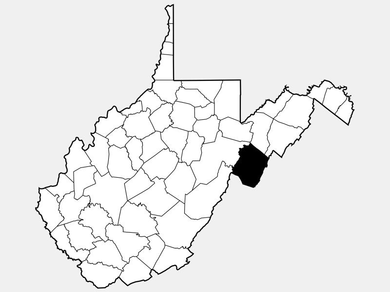 Pendleton County locator map