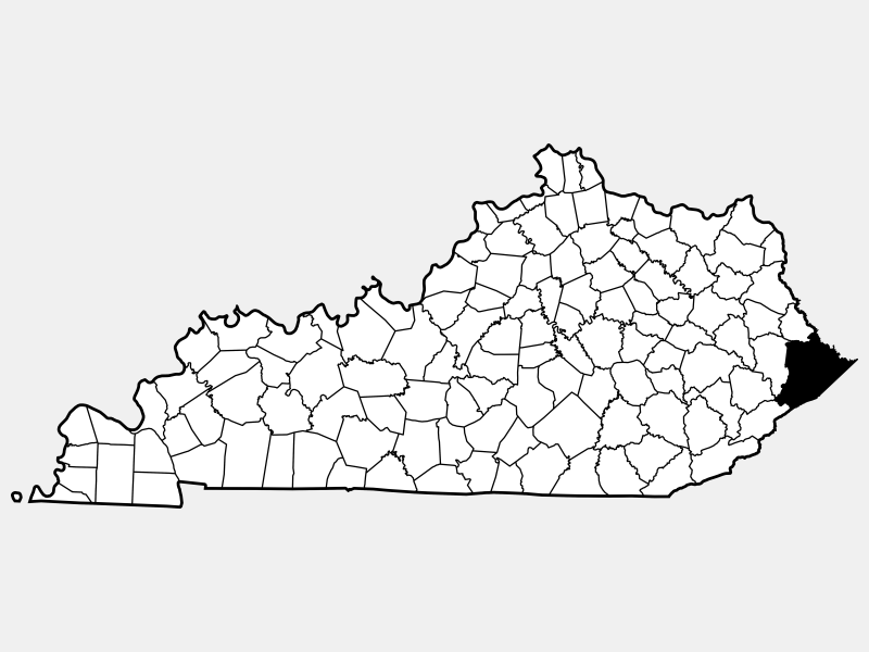 Pike County, KY locator map