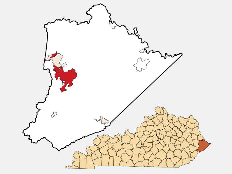 Pikeville location map