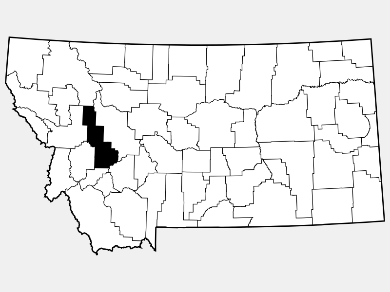 Powell County locator map